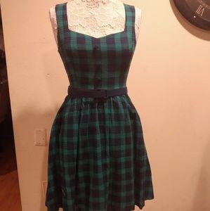 ModCloth Green Plaid Dress